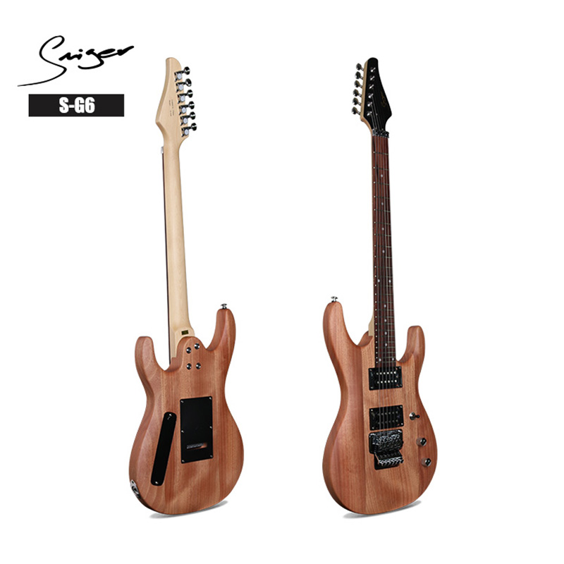 Smiger S-G6 High Quality Electric Guitar Mahogany Body Double Pickup Double Single Double Guitar Beginner Concert/Student gift high quality custom shop lp jazz hollow body electric guitar vibrato system rosewood fingerboard mahogany body guitar