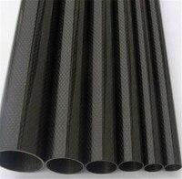 2 pcs noir en fiber de carbone tube 12mm x 10mm 3 k brillant surface 500mm long pour rc avion multicopter arm diy