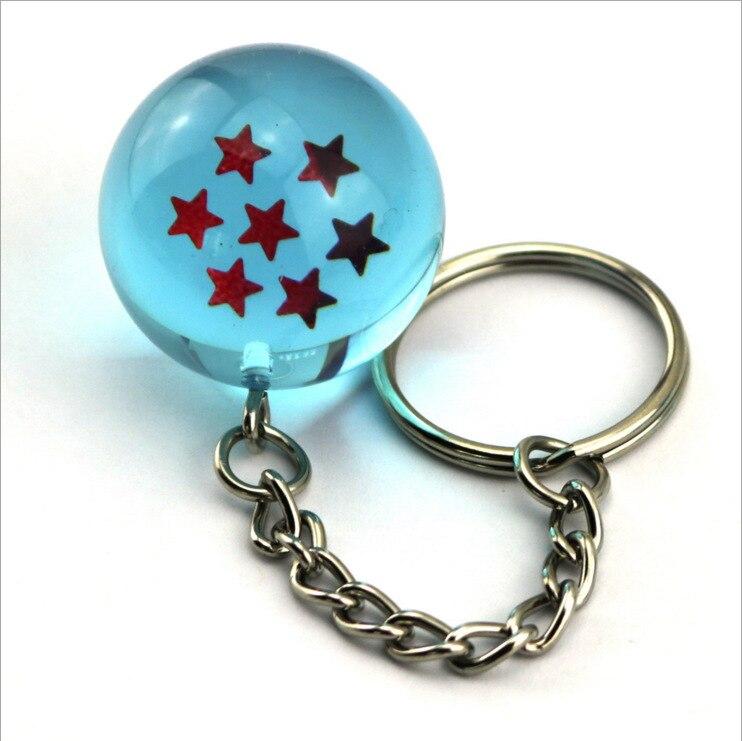 EUB 50 pcs Anime dessins animé Dragon Ball série porte-clés bijoux étoile à cinq branches sphérique porte-clés pendentif voiture cadeaux accessoires