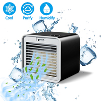 Convenient New Mini Portable Air Conditioner Humidifier Air Cooler Space Easy Cool Purifies Big Wind Fan for Home Office Desk