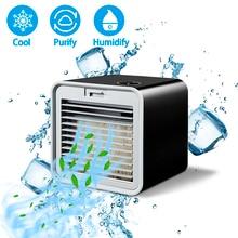 Handige Nieuwe Mini Draagbare Airconditioner Luchtbevochtiger Luchtkoeler Ruimte Gemakkelijk Koel Zuivert Grote Wind Ventilator Voor Thuis Bureau
