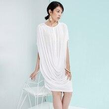 Женские летние мягкие тонкие трикотажные складной платье