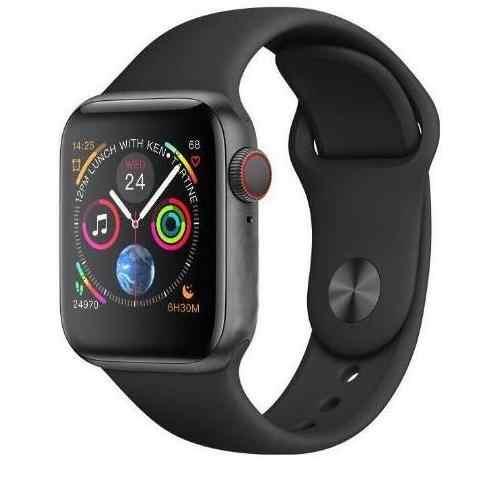 Cargador inalámbrico 44MM iwo 8 Series 4 caja de aluminio MTK2502C reloj inteligente moda deportiva para Iphone iOS teléfono Android huawei