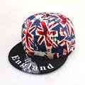 2016 новая шляпа штамп слово Корейских мужчин и женщин Британский флаг буквы плоским краев хип-хоп кепка snapback человек открытый бейсбол cap