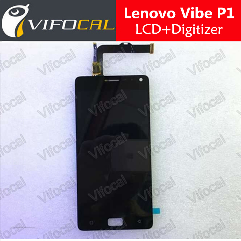 Lenovo Vibe P1 LCD Display + Touch Screen 100% Original FHD 5.5inch Digitizer Assembly Replacement For Mobile Phone - Black аксессуар чехол lenovo k10 vibe c2 k10a40 zibelino classico black zcl len k10a40 blk
