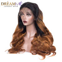 13x6 Lace Front Human Hair Wigs Pre Plucked Hairline Brazilian Body Wave Remy Hair Lace Wig With Baby Hair 1b 30 color Wig