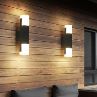BEIAIDI Outdoor Motion Sensor LED Wall Lamp Waterproof Garden Porch Wall Sconces Villa Hotel Courtyard Aisle Corridor Wall Lamp