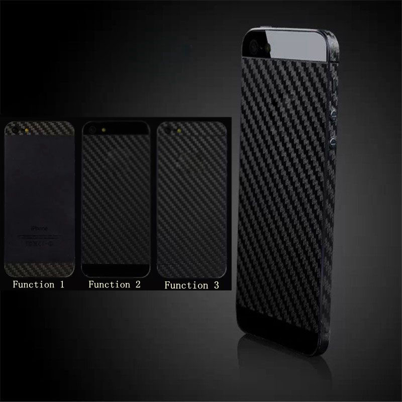 DIY Full Body Protective Carbon fiber Film Sticker Black Case Cover For iPhone 5 5S SE 6 6S /6 6S Plus Case Fundas in 3 Function