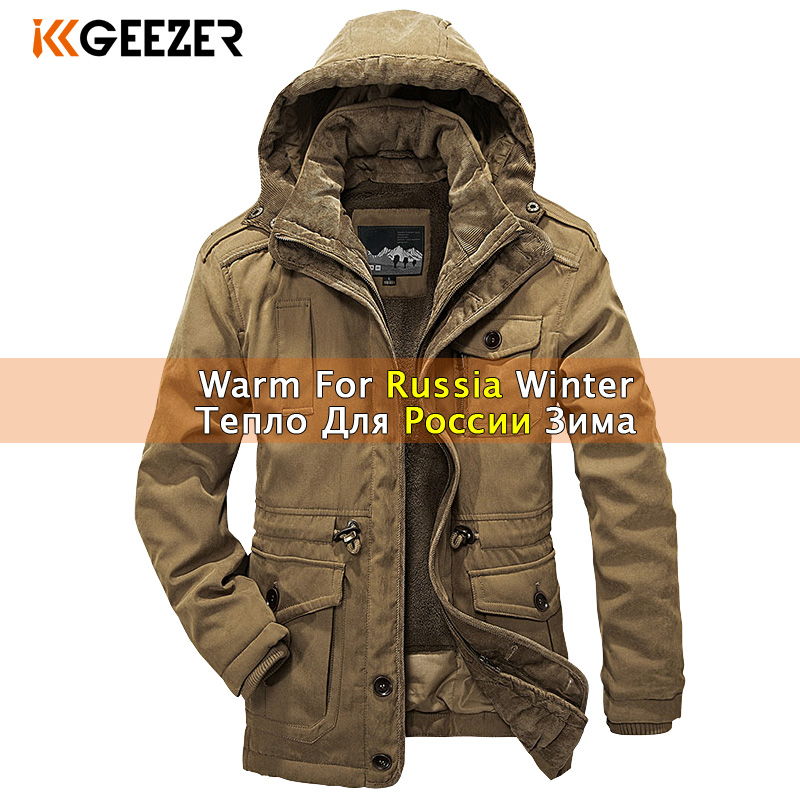 Winter Jacket Men Parkas Wool 2019 Big Size Fleece Cotton-Padded Top Warm Waterproof High Quality Thicken Male Heavy 2 In 1 Coat
