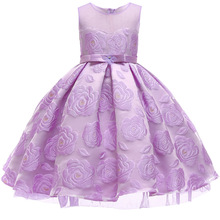 Children's Dress Princess Mesh Yarn Ball Gown Dress Girl Evening Birthday Party Children's Clothing Kids Dresses For Girls girls floral flowers appliques ball gown dress children cute mesh net yarn birthday party princess dress kids dress clothes