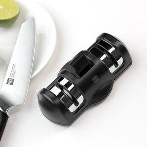 Image 3 - Huohou Whetstone bıçak bileyici 2 aşamalı mutfak bileme taşı değirmeni bıçak araçları mutfak için bıçaklar kalemtıraş aracı