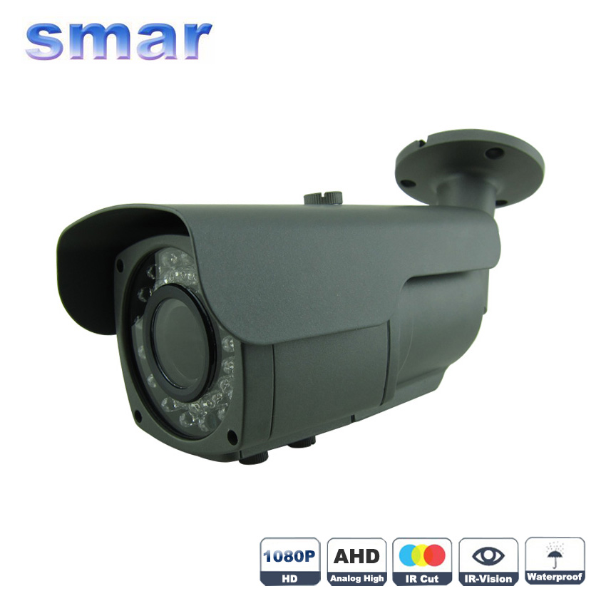 CCTV Focusing Metal Waterproof IP 66 1080P AHD font b Camera b font Sony IMX322 2