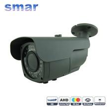 Enfoque de metal a prueba de agua ip 66 1080 p ahd cctv cámara sony imx322 2.0mp 2.8-12mm zoom lente de la cámara de vigilancia filtro de corte ir