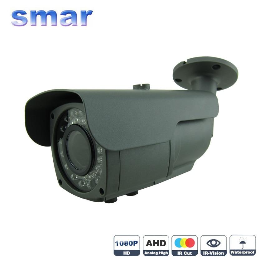 bilder für CCTV Fokussierung Metall Wasserdicht IP 66 1080 P AHD Kamera Sony IMX322 2.0mp 2,8-12mm Zoomobjektiv Überwachung kamera IR-CUT Filter