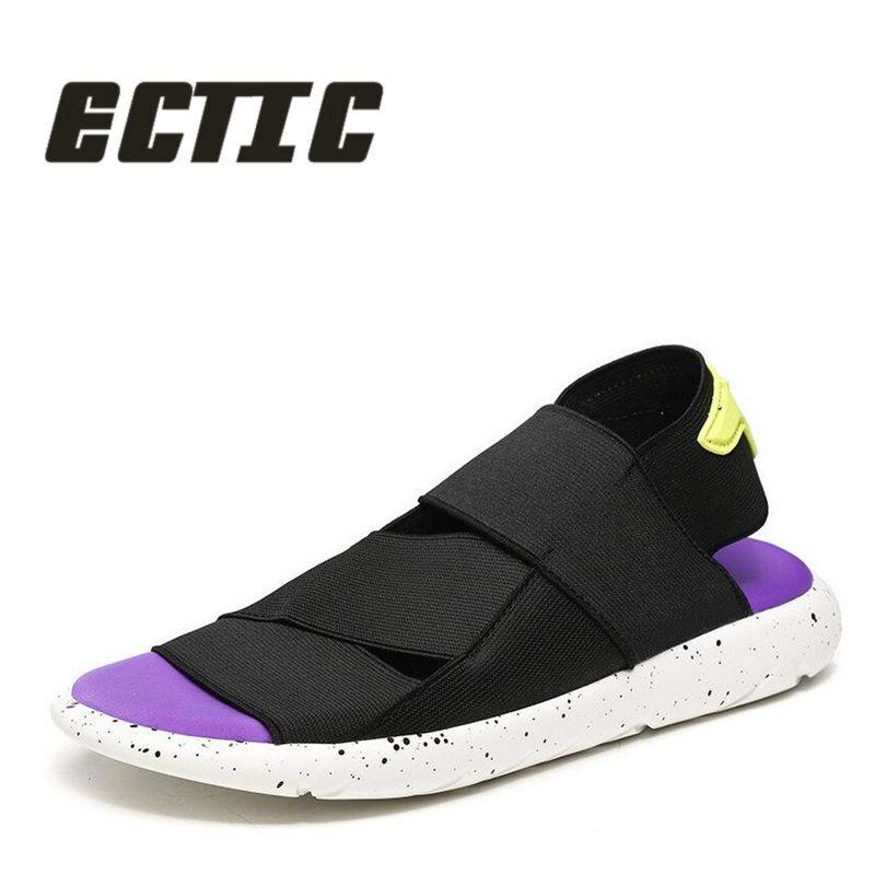 ECTIC New 2018 лето Breathable men casual Сандалии - Мужская обувь