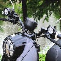 Motorrad geändert elektrische lichter super helle led-scheinwerfer rückspiegel installation scheinwerfer externe spiegel scheinwerfer