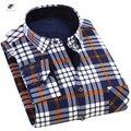 Nueva Moda Casual Hombres Florales Camisa de Franela Hemden Invierno Ropa de Manga Larga Del Diseñador Camisa Para Hombre Camisa Para Hombre de Oro XYX040