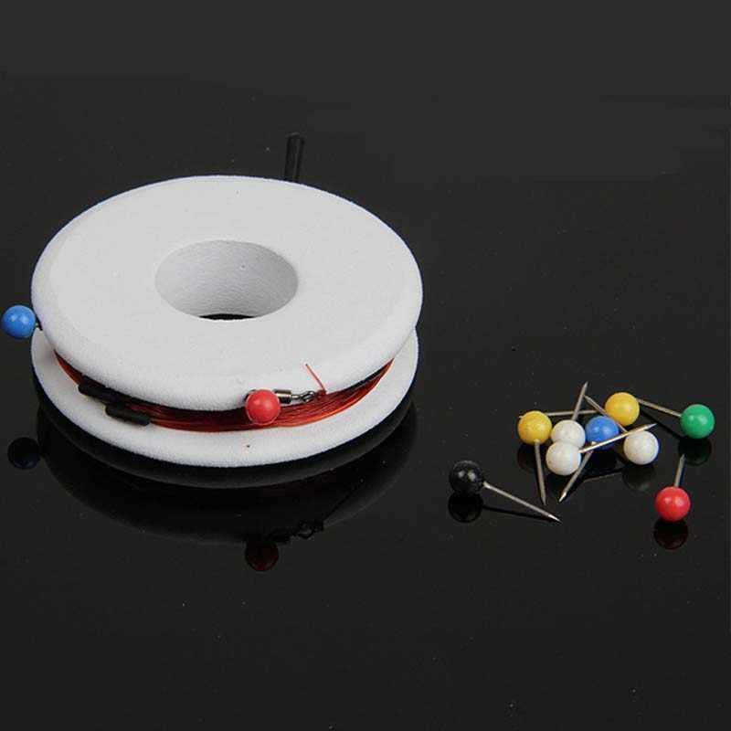 100 Pcs/lot Colorful Mutiara Cahaya Menemukan Pins DIY Patchwork Jahit Pin Posisi Jarum Pakaian Aksesori