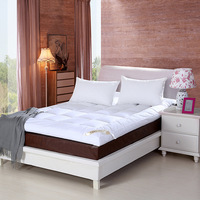 Mattress Cover & Grippers Cotton Quilted Mattress Toppers white for student 200cmx220cm