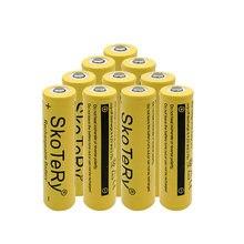 10PCSX3.7V  2800mAh 18650 Li-ion Rechargeable Battery for Flashlight 18650 3.7v  18650 battery batteries Free Shipping Yellow цена