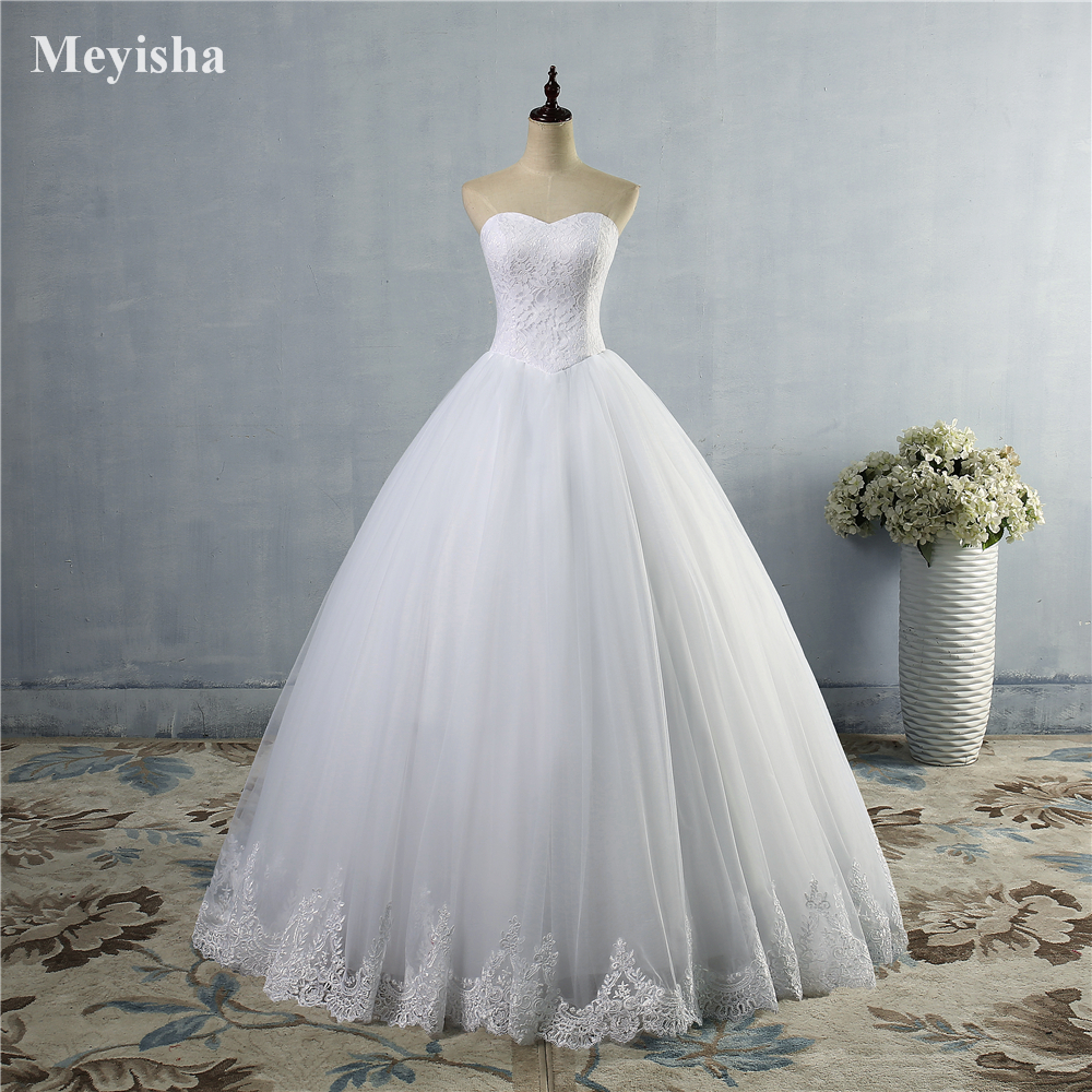 ZJ9014 2019 Fashion White Ivory Vintage Wedding Dresses For Brides Plus Size Formal Sweetheart 2/4/6/8/10/12/14/16/18/20