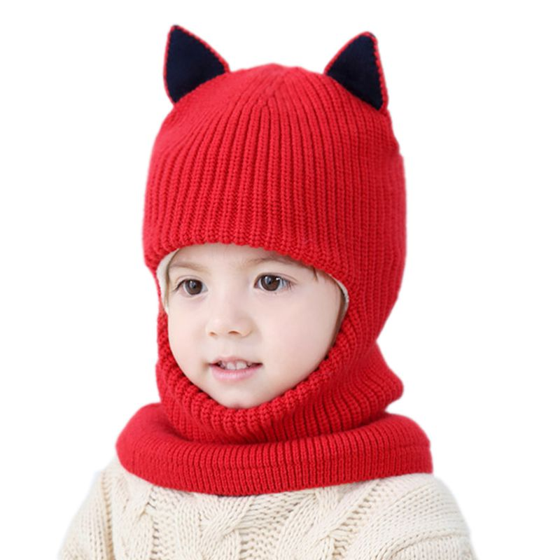 Babies' Winter Velvet Ear Cap Kids' Autumn Cartoon Hat Neck Warmer Cap Newborn Photography Prop for Infant Boys and Girls(China)