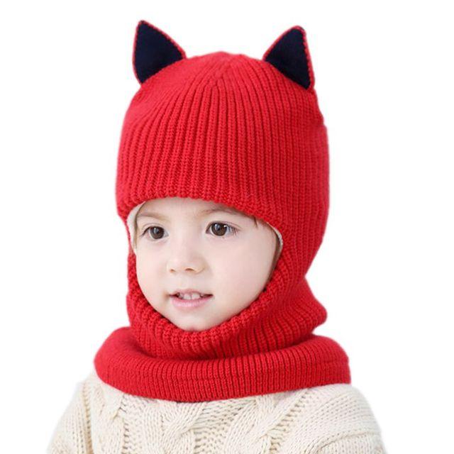 Babies  Winter Velvet Ear Cap Kids  Autumn Cartoon Hat Neck Warmer Cap  Newborn Photography 239540b78c8