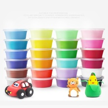 12pcs/set Light Clay Slime Plasticine Clay Air Dry Playdough DIY Soft Playdough Creative Handgum Toys For Kids