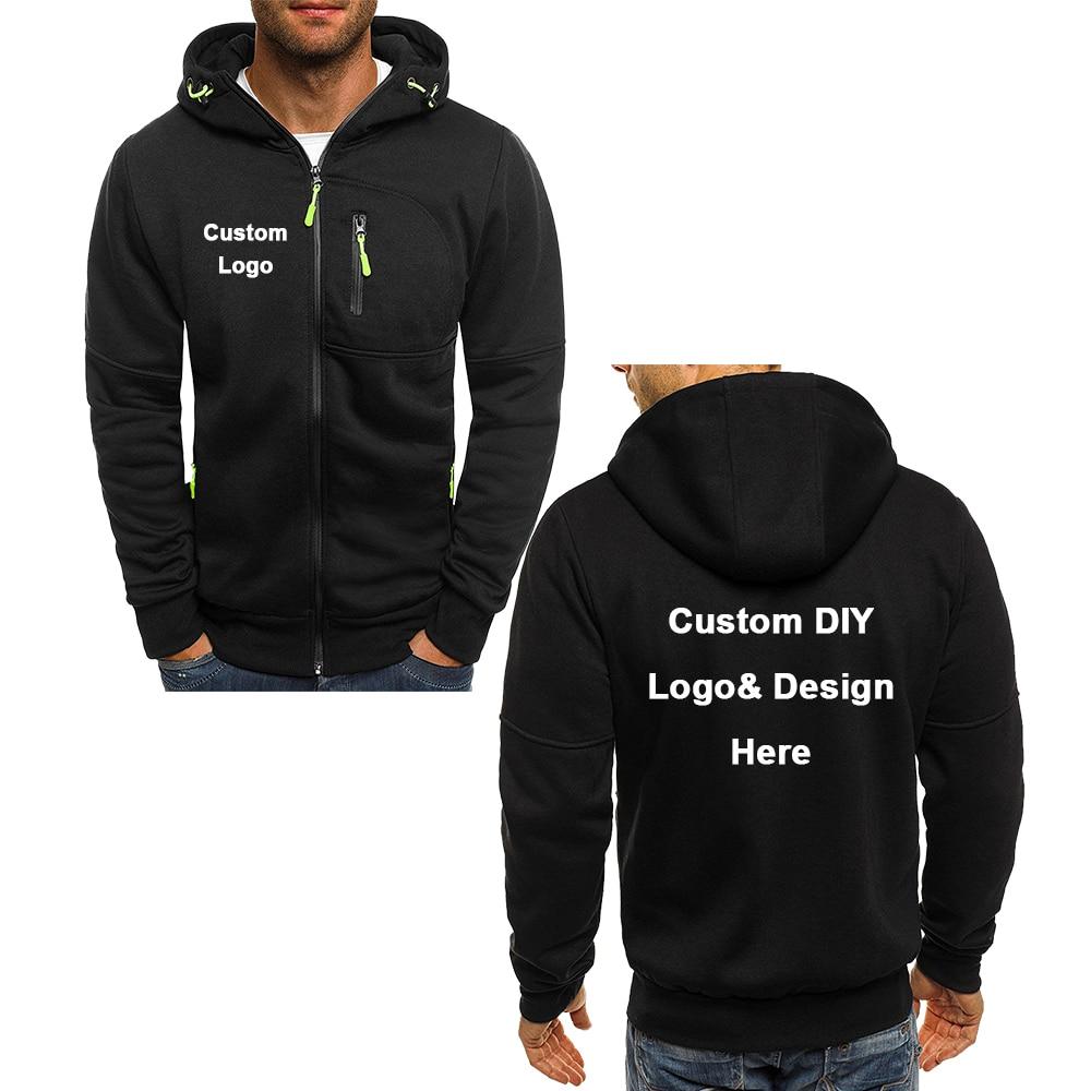 Новое поступление, спортивное пальто с логотипом на заказ «сделай сам» с текстовым изображением, толстовки, Мужская модная крутая куртка на...