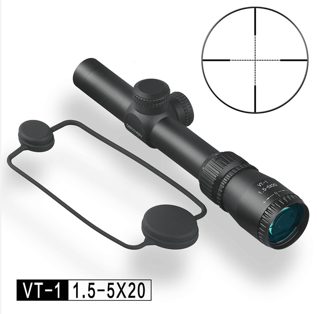 Discovery VT-1 1.5-5X20 Mil-dot Richtkruis Tactical Scope Riflescopes Voor Airsoft Air rifles