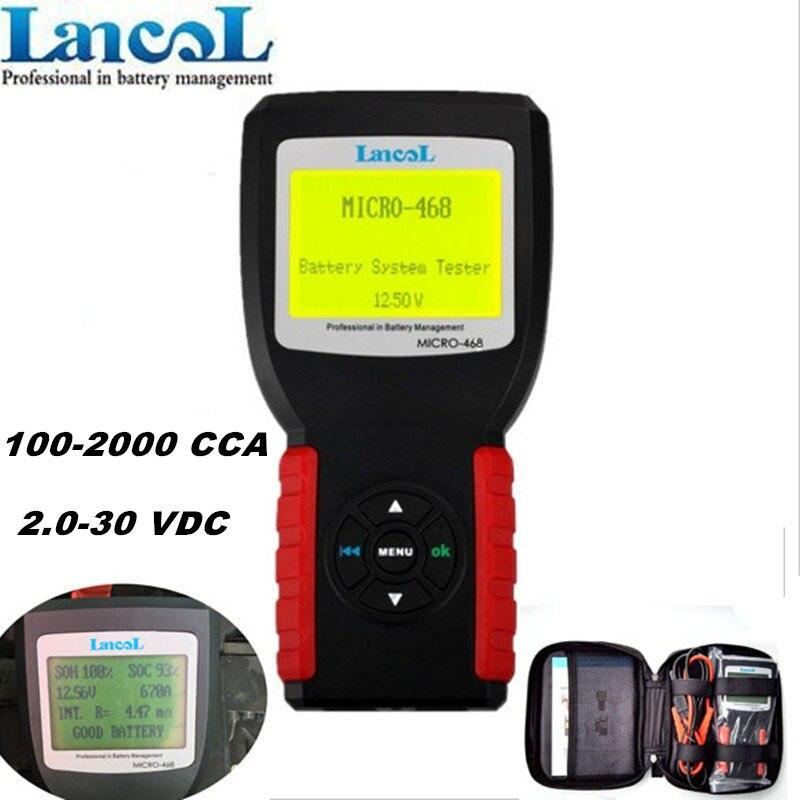 Professional Car Battery Tester LANCOL 12V  battery  Health Checker Analyzer Micro-468 Free Shipping 12v protable battery analyzer battery capacity analyzer battery capacity tester