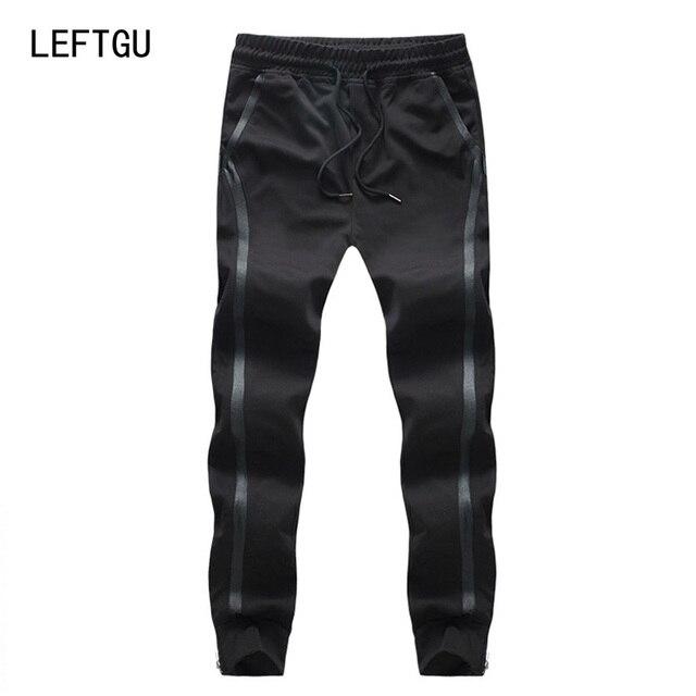 Мода мужская бегунов брюки Весна-осень Hip Hop Шаровары мужчины Боковой Полосой брюки Азиатский Размер М ~ 3XL 4XL 5XL