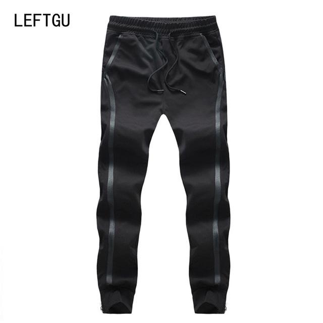 Joggers pantalones de los hombres de moda de primavera-otoño hip hop pantalones harem hombres faja lateral tamaño asiático m ~ 3xl 4xl 5xl
