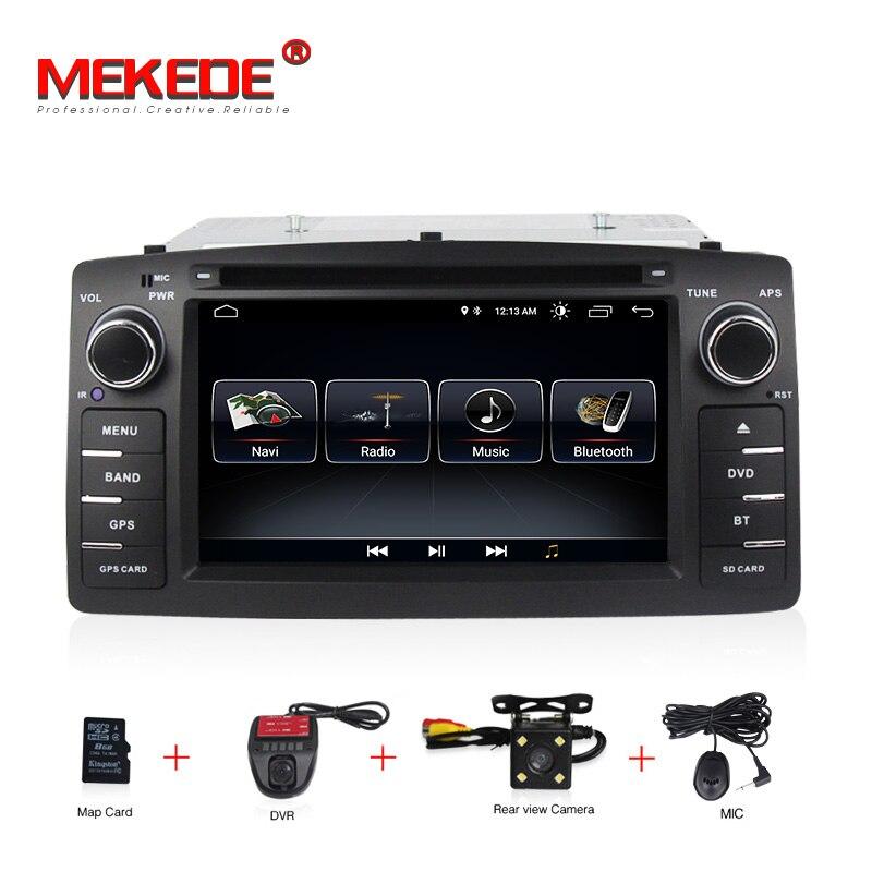 Livraison gratuite HD Android 8.1 lecteur dvd de voiture Pour Toyota Corolla E120 BYD F3 2 Din Voiture GPS stéréo GPS WIFI Voiture radio navigation