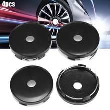 4 unidades de cubiertas del cubo para el centro de la rueda de 60mm x 56mm cubiertas del cubo para el coche Universal para el tipo MSW 85 para las ruedas Rial Imola negro