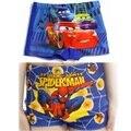Flash de carro Do Homem Aranha do Menino swimwear Calças de Praia Caráter crianças Homem Aranha Caráter Meninos Sunga cuecas 1 pc 2-10years
