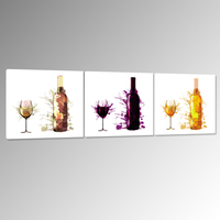 Modern Home Decorative Painting Abstract Wine Bottle Wall Art For Home Decoration Creative Canvas Art Prints