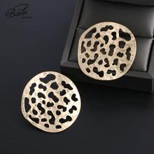 Badu Round Hollow Earring for Women Fashion Geometric Punk Earrings 2019 New Hot Sale Jewelry Wholesale Gift Girls Party