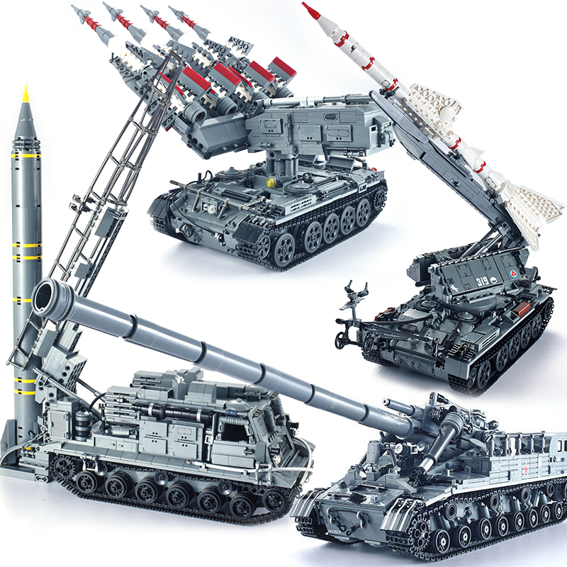 XingBao compatible missile Military technic Tank T92 cars vehicle MOC creator sets building blocks battle russian