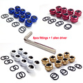 """8pcs/lot WinfMOD G1/4"""" 14mm Rigid/Hard Tubing Multi-Link Adapter / Fitting with 3 O-rings Sealing ---Blue/White/Red/Gold Options"""