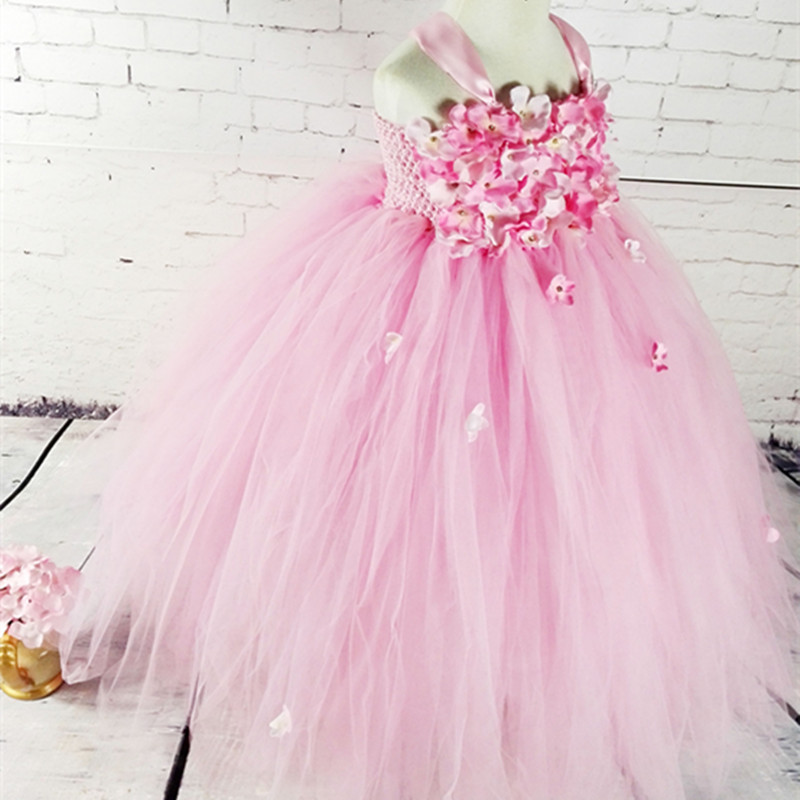 Girl Dresses Flower Fairy Flower  Dresses  Piano Dance Birthday Gifts TUTUdress