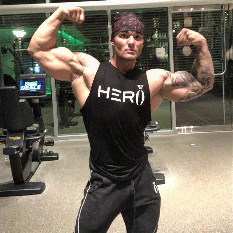2019 New Design Men's Summer Gyms Fitness Casual Cotton O-neck Men   Tank     Tops   Brand Gyms Sleeveless bodybuilding   Tank     Tops