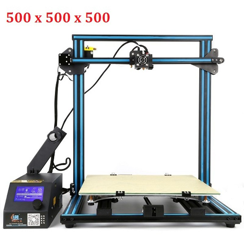 Creality 3D CR-10 Large Printing Size 400*400*400 mm DIY Desktop 3D printer Kit Multi-type Filament with Heated Bed 2017 new large printing size 3d printer kit metal frame printer 3d for sale with two rolls filament sd card