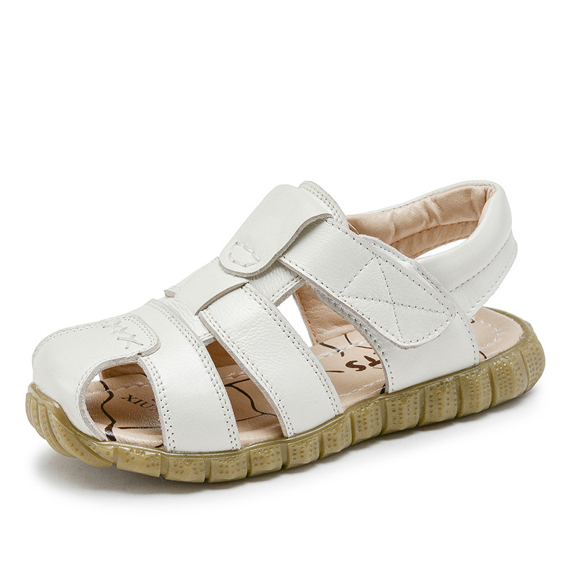 2018 bērnu sandales zēnu ādas sandales mīkstās apakšējās - Bērnu apavi