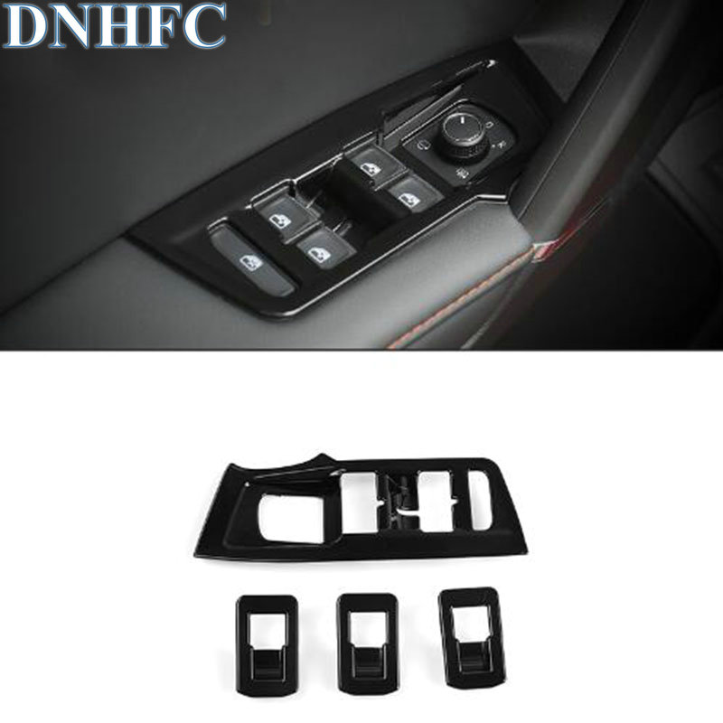 DNHFC For Volkswagen VW Tiguan 2017 LHD Interior Decoration Door Window Switch Cover Trims Car Accessories Car-styling