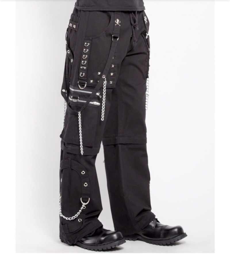 Nueva cadena Retro oscura Pantalones rectos Pantalones holgados Pantalones góticos mujeres Harajuku talla grande Pantalones Mujer Cintura Alta