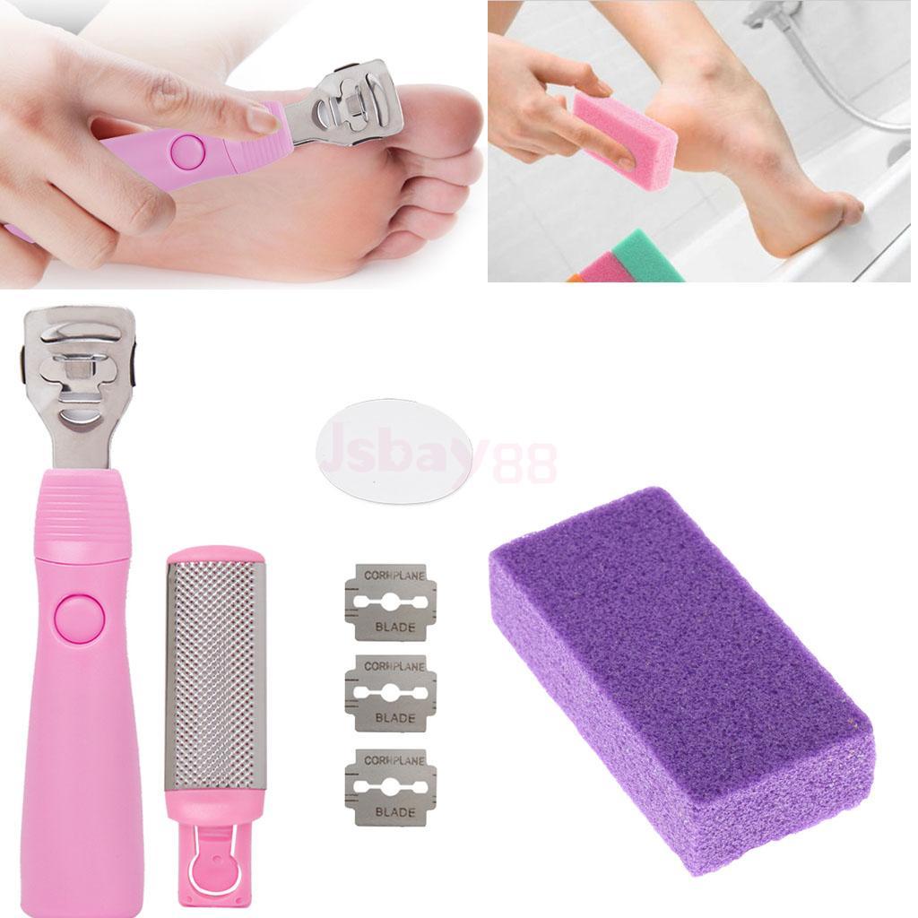 цена на Foot File Set Dead Hard Skin Callus Remover Scraper Pedicure Rasp Portable Cuticle Pusher Nail Foot Care + Sponge Pumice Stone