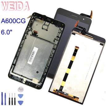 WEIDA For Asus Zenfone 6 A600CG T00G A601CG LCD Display Touch Screen Panel Digitizer Assembly Frame Replacement 6.0