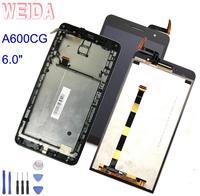 WEIDA para Asus Zenfone 6 A600CG T00G A601CG LCD pantalla táctil Panel digitalizador montaje marco reemplazo 6 0