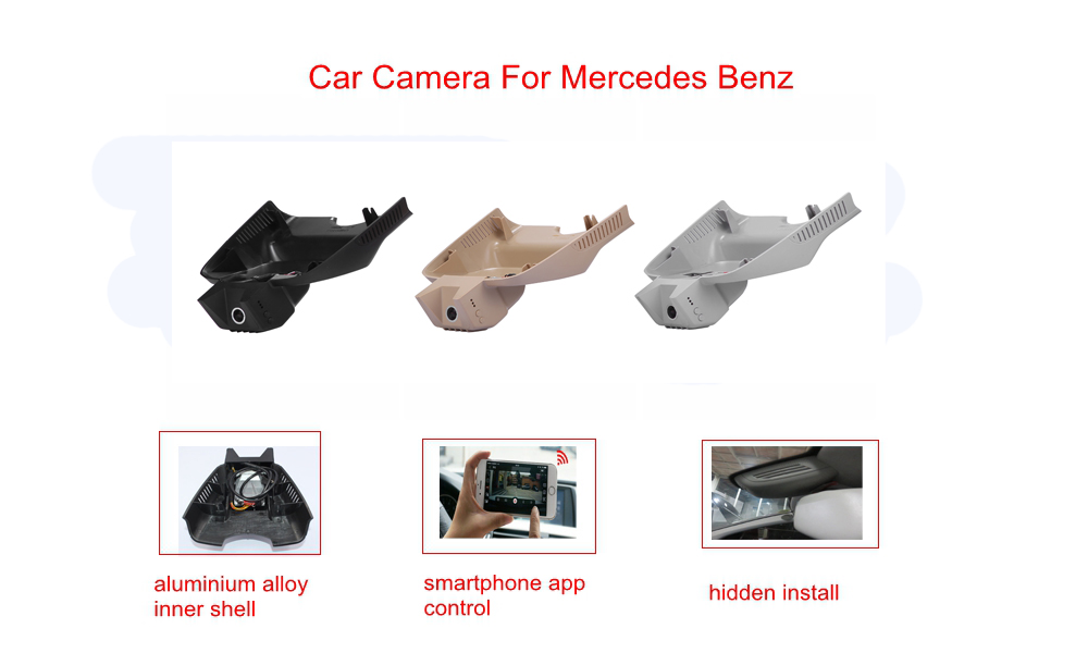 PLUSOBD Free Ship Dash Cam 1080P For Mercedes Benz GLK X204 2009-15 Full HD Car Camera DVR NT96655 170 Degree Via OBDII Adapter plusobd wifi car dvr recorder for mercedes benz glk x204 2009 15 dash cam black box sony 322 with aluminium alloy and obd2